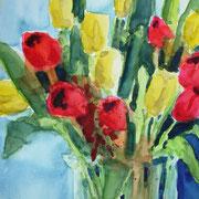 Tulpen, 2012, 36 x 48 Aquarell