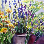 Lavendel & Co., 2011, 30 x 40cm, Aquarell