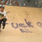 Heuer schon 2x dort: der Spiel-, sorry: Skaterplatz in Laxenburg, direkt am Wr. Neustädter Kanal