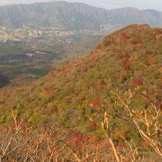 神山から冠ケ岳を望む