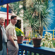David Hockney, Carl Grouwet; Hockney's Home, Hollywood Hills, 04 Februar 2000, Foto Betty Freeman