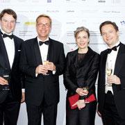 Dr. Hagen Lippe-Weißenfeld, Eckard Schulze-Neuhoff, Marion Ackermann, Carl Grouwet; Düsseldorf Fundraising Dinner Kunstsammlung Nordrhein-Westfalen, 03. Dezember 2011