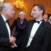 Minister van Staat Mark Eyskens, Carl Grouwet; Geburtstag Edgar Parser; Brüssel, 02. Oktober 2008