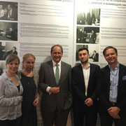 Nina Schultes, Alexandra Hildebrandt, Alexander Graf Lambsdorff, David Kordon, Carl Grouwet; Mauermuseum Berlin, 31. März 2017