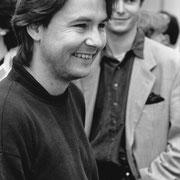Esa-Pekka Salonen, Carl Grouwet, Probenanfang Saint-Francois d'Asis, Salzburger Festspiele 1992, Foto Schaffler, Salzburg