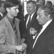 Carl Grouwet, Dr. Hans Wiedrich, Pierre Boulez; Salzburger Festspiel 1992, Foto Schaffer