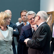 Daniela Schadt, Carl Grouwet, Bundespräsident Joachim Gauck, Beat Wismer; Düsseldorf SMKP, Foto Bernd Ahrens, 04. Juli 2012