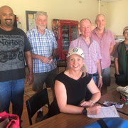 2019 01 25 Senator Bridget McKenzie, Federal Minister for Sport,  signed up as our newest club member.