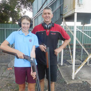 2019 02 19 Female Participation Initiative - Jess Peacock had Dad Tim on hand to see her busting a few targets. Mum Sally has also been participating in the programme and is really whacking the clays.