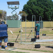 2011 11 11  Bruce Henshall refereeing B Grade shootoff - Gary Byron & Marc Connell