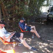 2019 02 16 DTL Compretition - Mitch & Tom enjoying the great outdoors. Ah, the serenity....