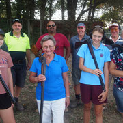 2019 02 26 Female Participation Initiative - Rear: Dave Cole Phil Smith Anton Motha Col Crittenden Steve Tamme   Front: Chelsea Cole Olivia Williams Jess Peacock Sally Peacock