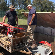 2019 01 12 Installing the Laporte Twinlap trap lent to the club by Bronzewing Australia.