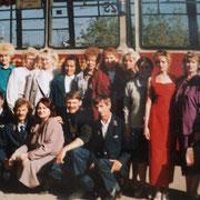 Работники трамвайного управления КамАЗа. Середина 1990-х годов. Фото Анны Шумилиной.