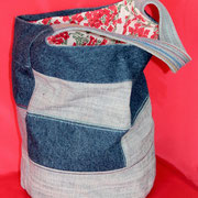 upcycling, Shopper aus Jeans.