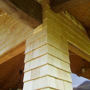 Fichte Holzschindeln 21cm mit geradem Schnitt