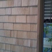 Anschluß Weißtanneschindeln an Fenster