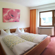 Schlafzimmer Ferienwohnung mit Terrasse