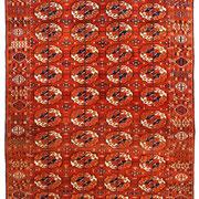 Tekke Hauptteppich, 330 x 185 cm, erste Hälfte 19. Jhdt., erstkl. museale Erhaltung mit Kelimabschlüssen