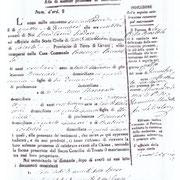 """Registro Atti di Matrimonio dal 1861 al 1865. Primo atto con la scritta """"Valle di Maddaloni""""."""