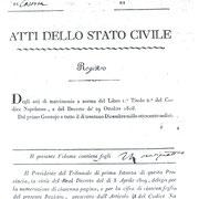 Comune di Valle: Registro Matrimoni dal 1813 al 1820.