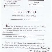 Comune di Valle: Registro Matrimoni dal 1846 al 1850.