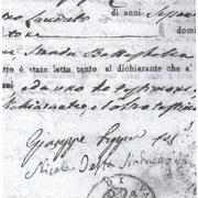 """Registro degli Atti di nascita dal 1813 al 1820. Timbro con la scritta:""""COMUNE DI VALLE."""""""