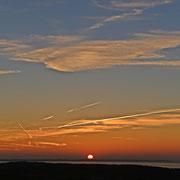 Sonnenuntergang auf Langeoog im Herbst