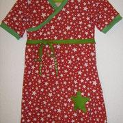 Jerseykleid STERN, Größe 134, Baumwolljersey, Wickeloptik