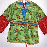 Tunika FRÜHLING, Größe 110/116, Kimonoschnitt, Baumwolle, hinten mit Bindeband in der Weite regulierbar