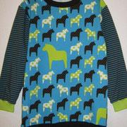 Shirt PFERDE, türkis, Größe 128, Baumwolljersey