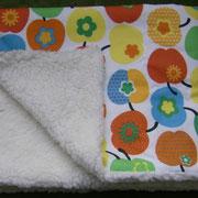 Babydecke 75x75cm; Baumwolle und Baumwollplüsch