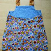 Wendekleid KRINGEL, Größe 110/116, Baumwollstoffe, Vorder- und Rückseite können nach Lust und Laune getauscht werden