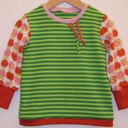 Shirt ÄPFEL, grün, Größe 80, Baumwolljersey