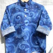Stehkragenhemd KONRAD, Größe 74/80, Baumwollstoffe, Ärmel zum Krempeln
