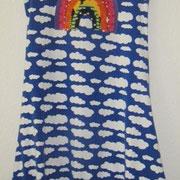 Jerseykleid REGENBOGEN, Größe 134, Baumwolljersey