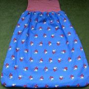 Pucksäckchen, Baumwolle außen/ Fleece innen/ Bündchen Baumwolljersey; etwa 30x 40cm