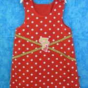Kleid 7 ZWERGE, Größe 92/98, Baumwolle, Filzapplikation