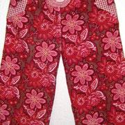 Cordhose FLOWERS, Größe 110, Baumwollcord/ Baumwollstoffe