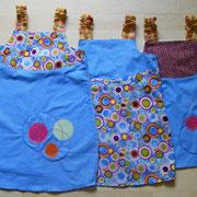 Wendekleid KRINGEL, Größen 86/92, 98/104 und 110/116, Baumwollstoffe, Vorder- und Rückseite können nach Lust und Laune getauscht werden