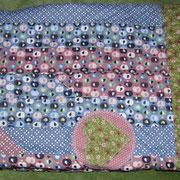Babydecke 100x100cm; Baumwolle und Baumwollplüsch