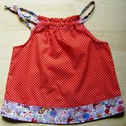 Babykleid ELLA, Größe 80, Baumwollstoffe, mitwachsend durch Bindebänder