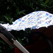 Sonnenschutz für den Kinderwagen, zum Wenden, Breite Verdeck 70, Breite Griff 30cm, Länge ca. 70 cm