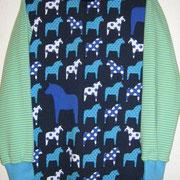 Shirt PFERDE, blau, Größe 140, Baumwolljersey
