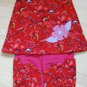 Kleid BLUME, Größe 98/104, Baumwollcordstoffe, rückwärtiger Knopfverschluß, lange mitwachsend, später als Tunika, mit passender Mitwachshose