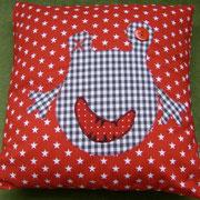 Mittelgroßes Kissen mit Wunschmotiv, Baumwollstoffe