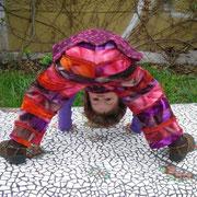 Patchhose HIPPIE, Größe 110, Baumwollcord/Jeansmix