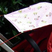 Sonnenschutz für den Kinderwagen, zum Wenden, Breite Verdeck 60, Breite Griff 30cm, Länge ca. 70 cm