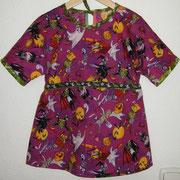 Tunika MONSTER, Größe 110/116, Kimonoschnitt, Baumwolle, hinten mit Bindeband in der Weite regulierbar