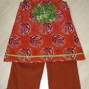 Tunikakleid ROSENTRAUM, Größe 122/128, Baumwollcord und baumwolle, mit passender Hose
